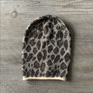 NEW Free People Leopard Print Beanie